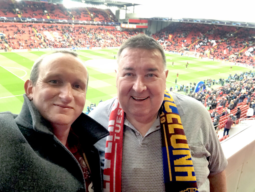 Paul Murray and DJ at Anfield